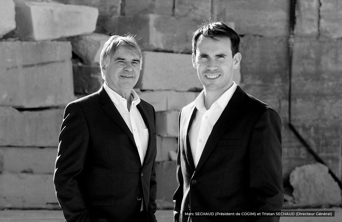 Marc SECHAUD (Président de COGIM) et Tristan SECHAUD (Directeur Général)