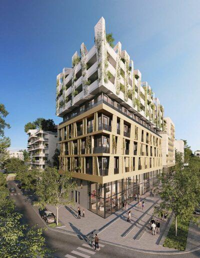 Programme immobilier à Montpellier rive gauche, Skylab par Cogim